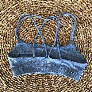 Gap fit blue sports bra